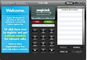 MagicJack Welcome Screen