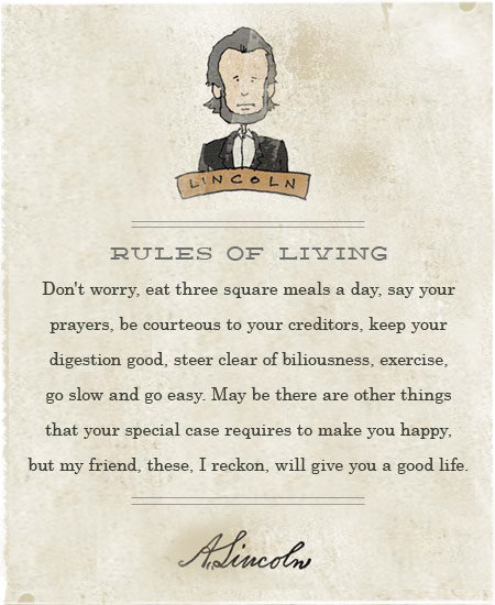 lincoln on living healthy