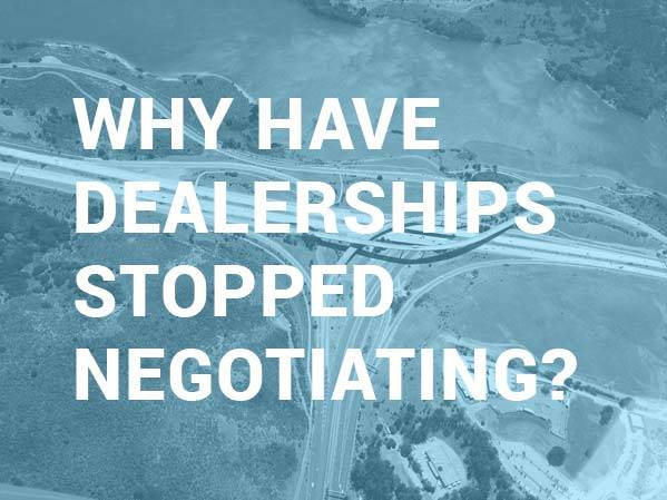 dealers wont negotiate