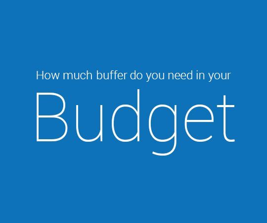 buffer in your budget