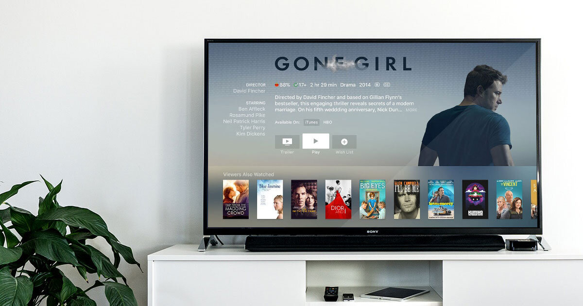 Gone Girl on TV Screen