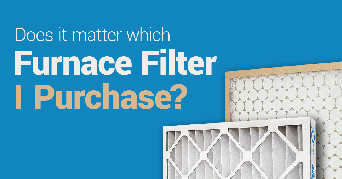 does it matter which filter i purchase