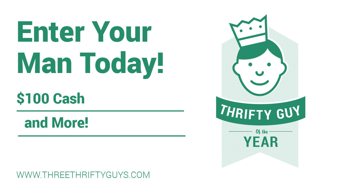 Thrifty guy of the year giveaway